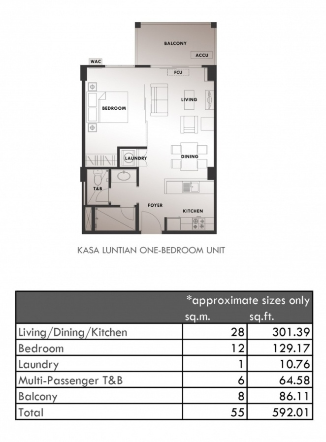 Kasa Luntian - 1 Bedroom Layout