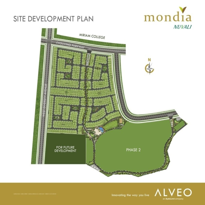 Mondia Nuvali Site Development Plan